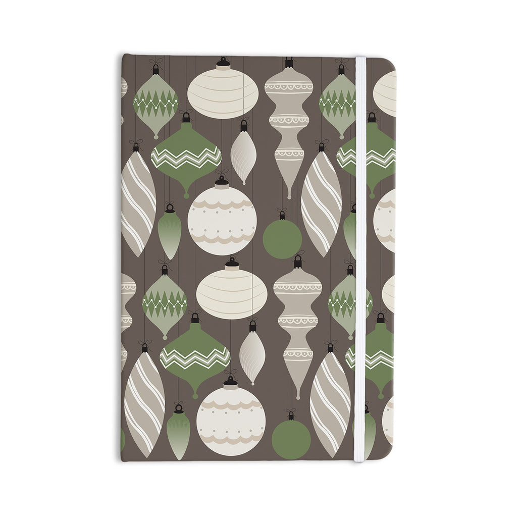 "KESS Original ""Mixed Ornaments Brown"" Green Everything Notebook - KESS InHouse  - 1"