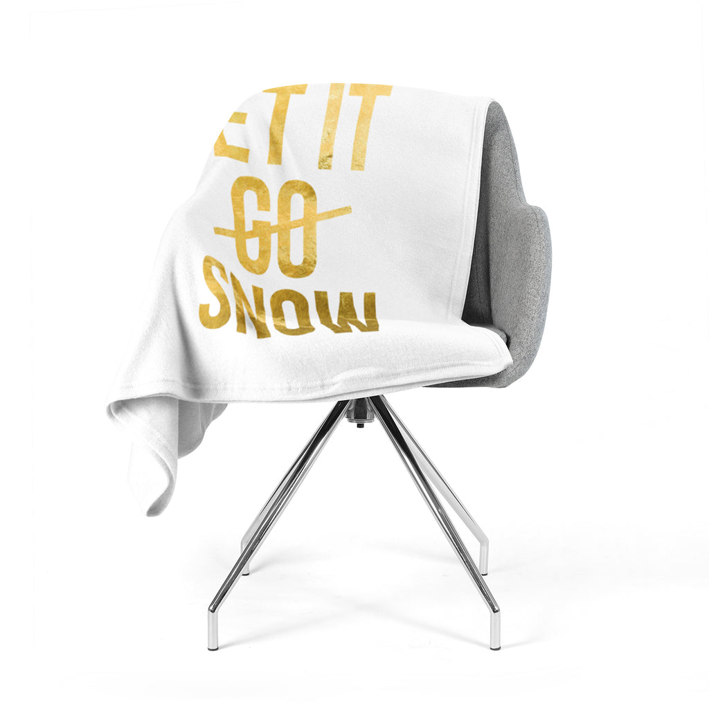 "KESS Original ""Let it Snow"" Typography Fleece Throw Blanket"