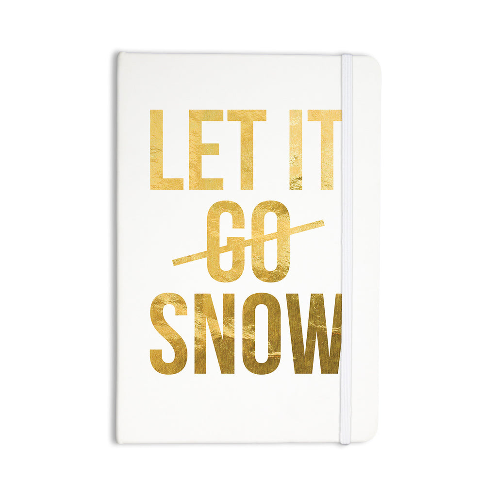 "KESS Original ""Let it Snow"" Typography Everything Notebook - KESS InHouse  - 1"