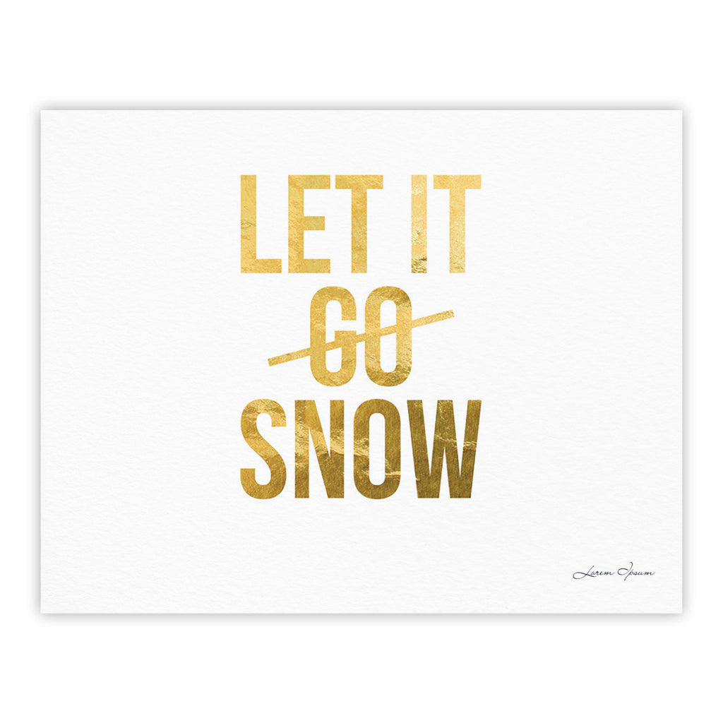 "KESS Original ""Let it Snow"" Typography Fine Art Gallery Print - KESS InHouse"