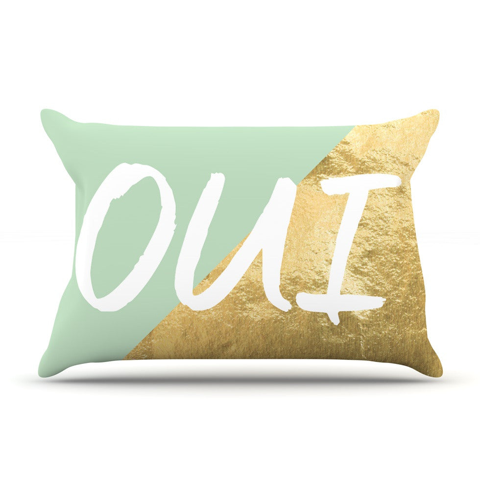 "KESS Original ""Oui Gold"" Pillow Sham - KESS InHouse"