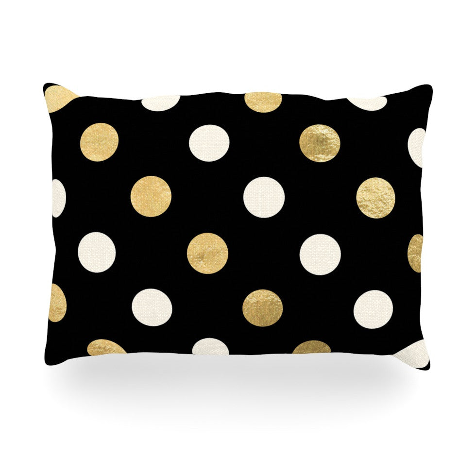 "KESS Original ""Golden Dots"" Oblong Pillow - KESS InHouse"
