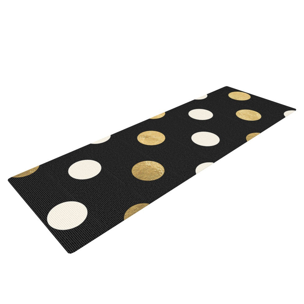 "KESS Original ""Golden Dots"" -Tags Yoga Mat - KESS InHouse  - 1"