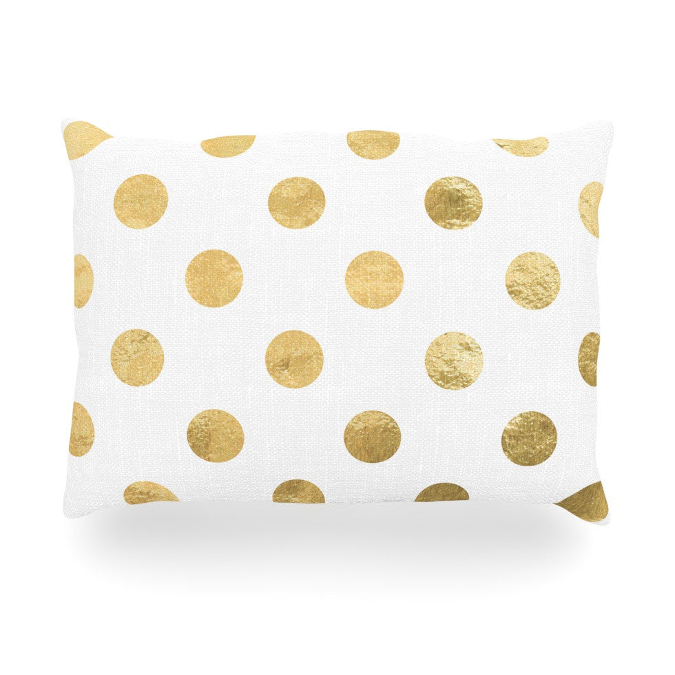 "KESS Original ""Scattered Gold"" Oblong Pillow - KESS InHouse"