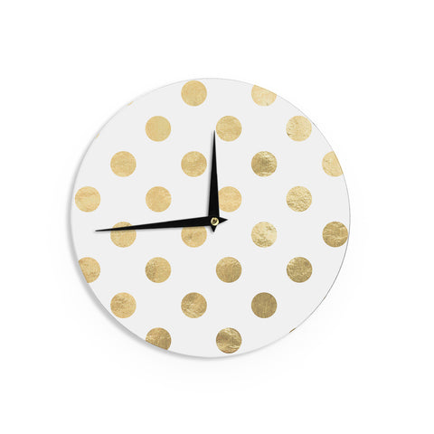 "KESS Original ""Scattered Gold"" Metallic Wall Clock - Outlet Item"