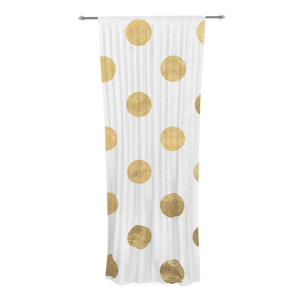 "KESS Original ""Scattered Gold"" Decorative Sheer Curtain - KESS InHouse  - 1"