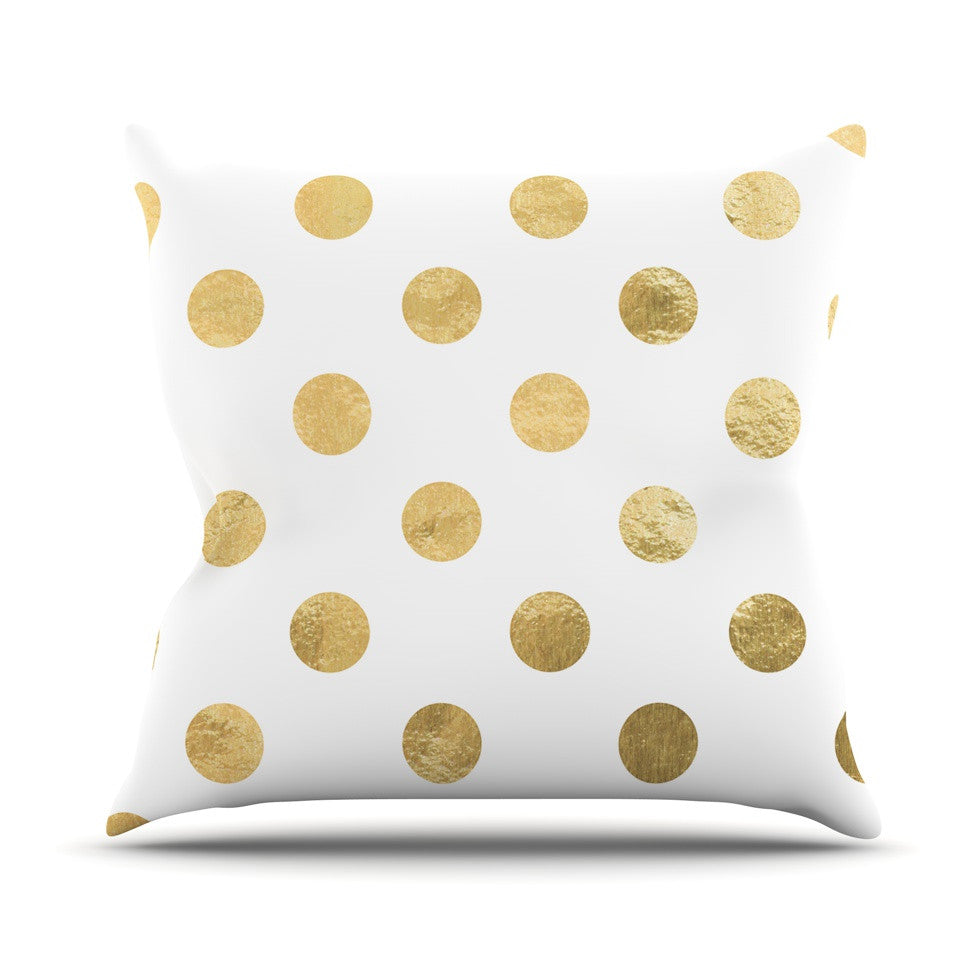 "KESS Original ""Scattered Gold"" Outdoor Throw Pillow - KESS InHouse  - 1"