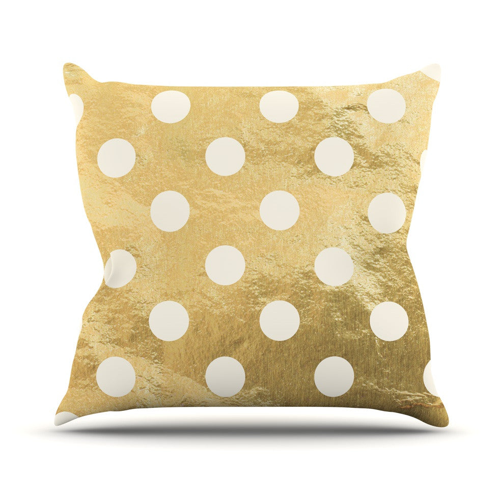"KESS Original ""Scattered White"" Outdoor Throw Pillow - KESS InHouse  - 1"