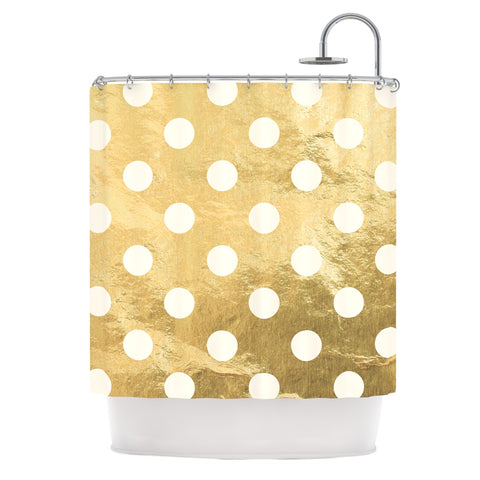 "KESS Original ""Scattered White"" Shower Curtain - Outlet Item - KESS InHouse"