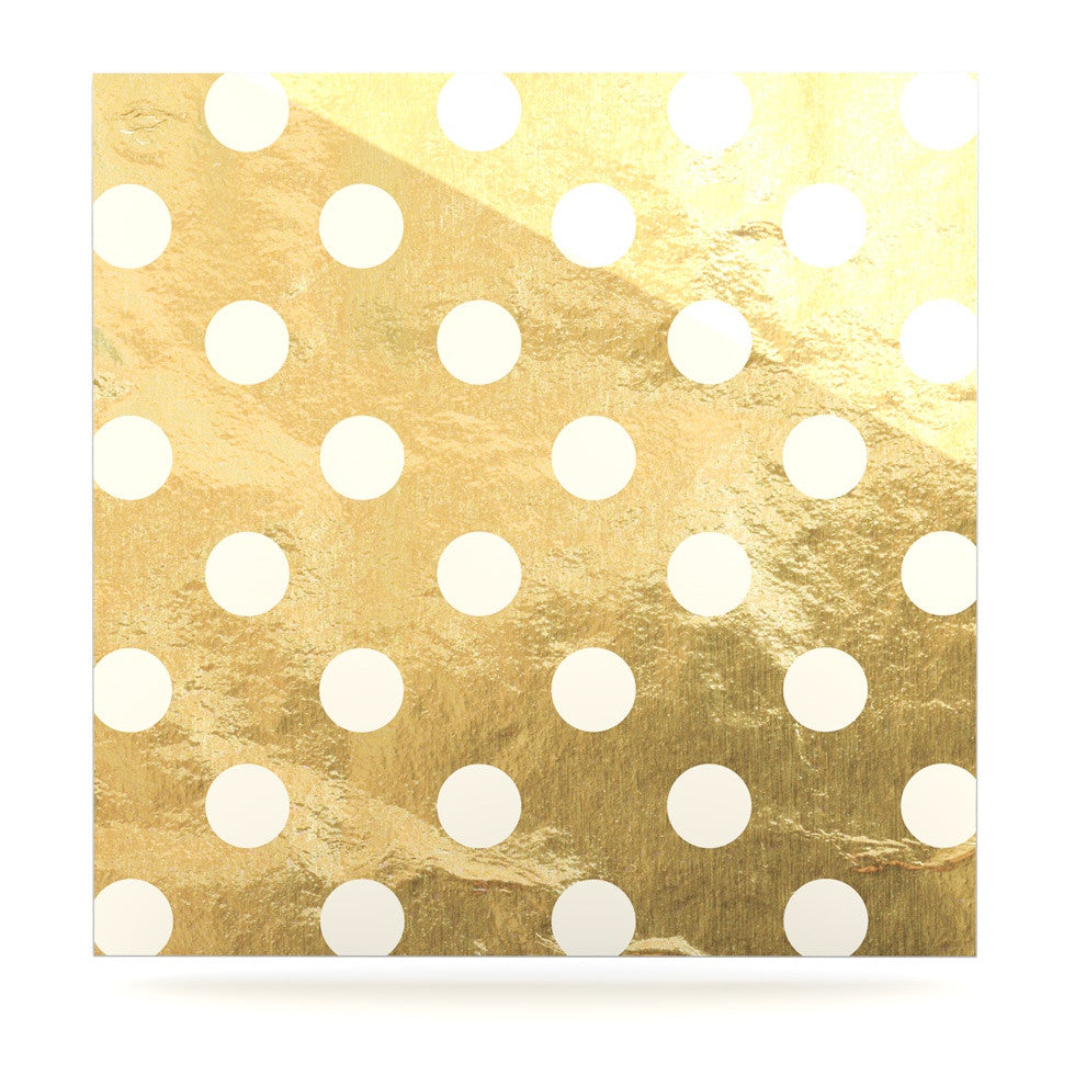 "KESS Original ""Scattered White"" Luxe Square Panel - KESS InHouse  - 1"
