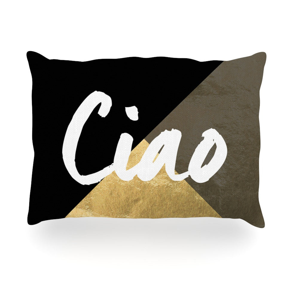 "KESS Original ""Ciao"" Oblong Pillow - KESS InHouse"