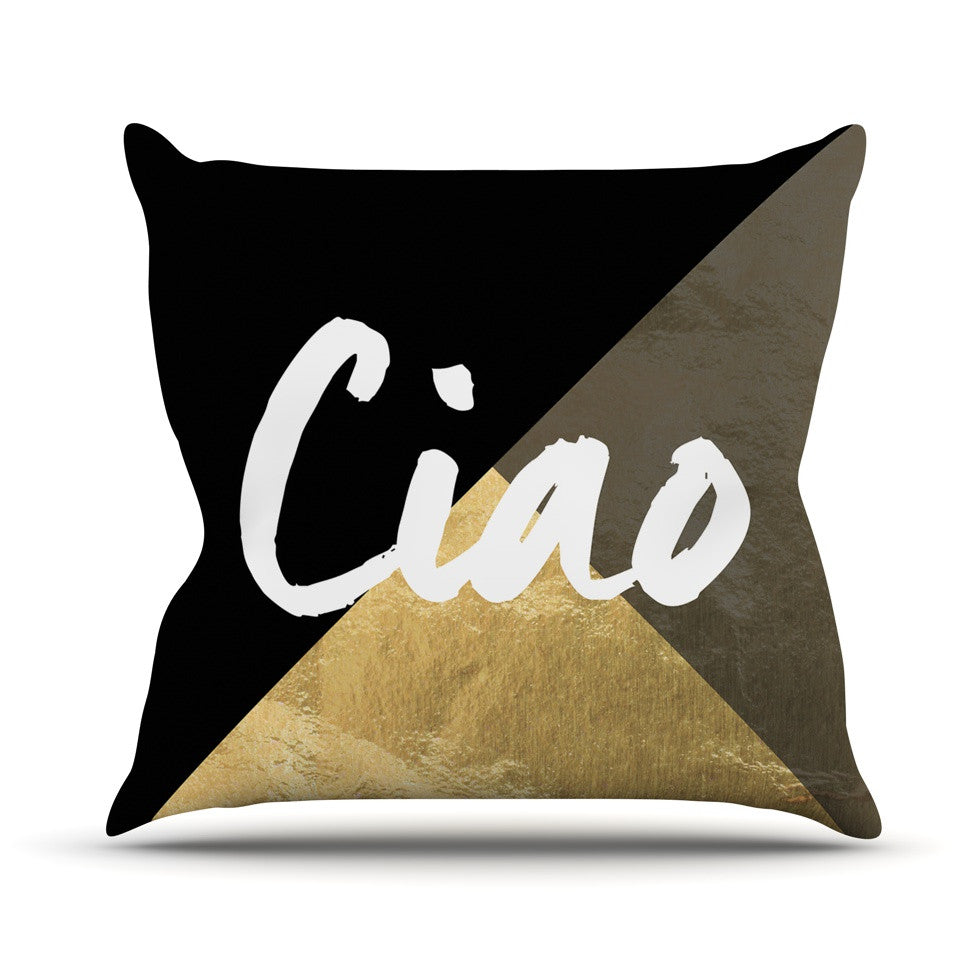 "KESS Original ""Ciao"" Outdoor Throw Pillow - KESS InHouse  - 1"