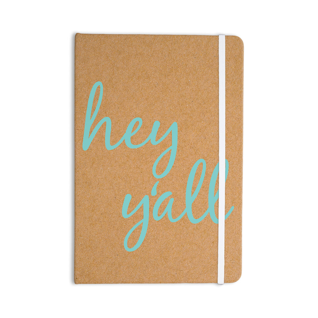 "KESS Original ""Hey Y'all"" Brown Blue Everything Notebook - KESS InHouse  - 1"