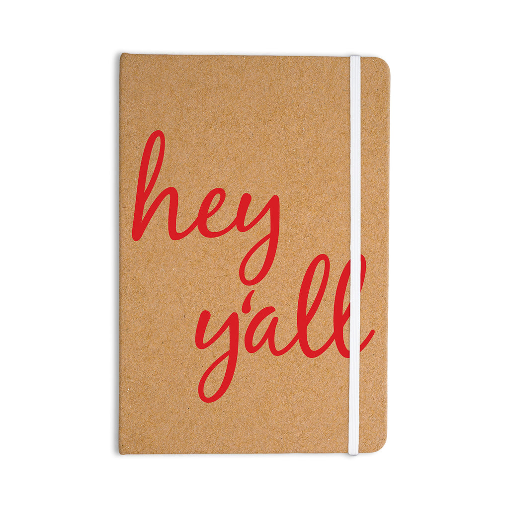 "KESS Original ""Hey Y'all - Red"" Brown Red Everything Notebook - KESS InHouse  - 1"