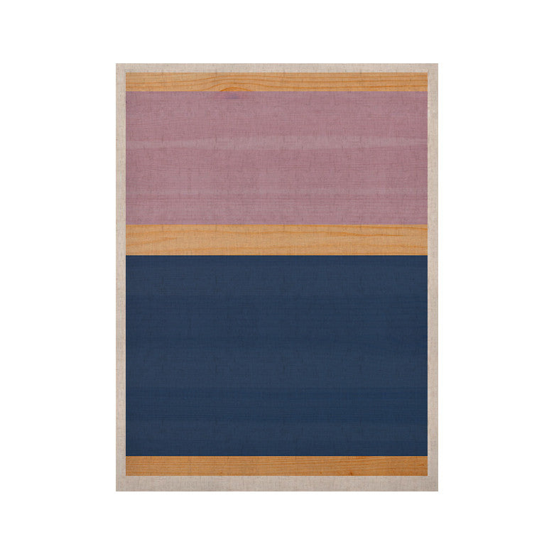 "KESS Original ""Spring Swatch - Blue Lavender"" Purple Wood KESS Naturals Canvas (Frame not Included) - KESS InHouse  - 1"