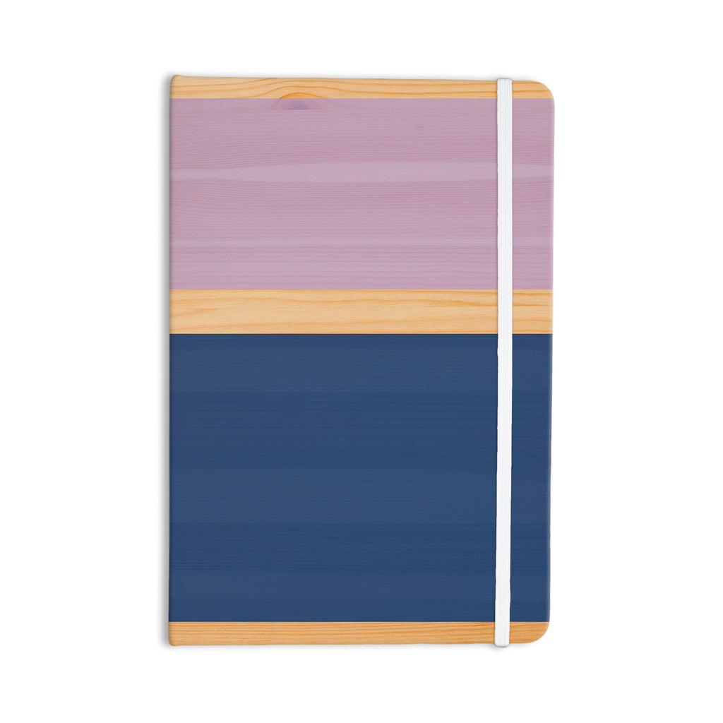 "KESS Original ""Spring Swatch - Blue Lavender"" Purple Wood Everything Notebook - KESS InHouse  - 1"
