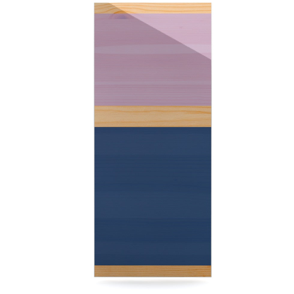 "KESS Original ""Spring Swatch - Blue Lavender"" Purple Wood Luxe Rectangle Panel - KESS InHouse  - 1"