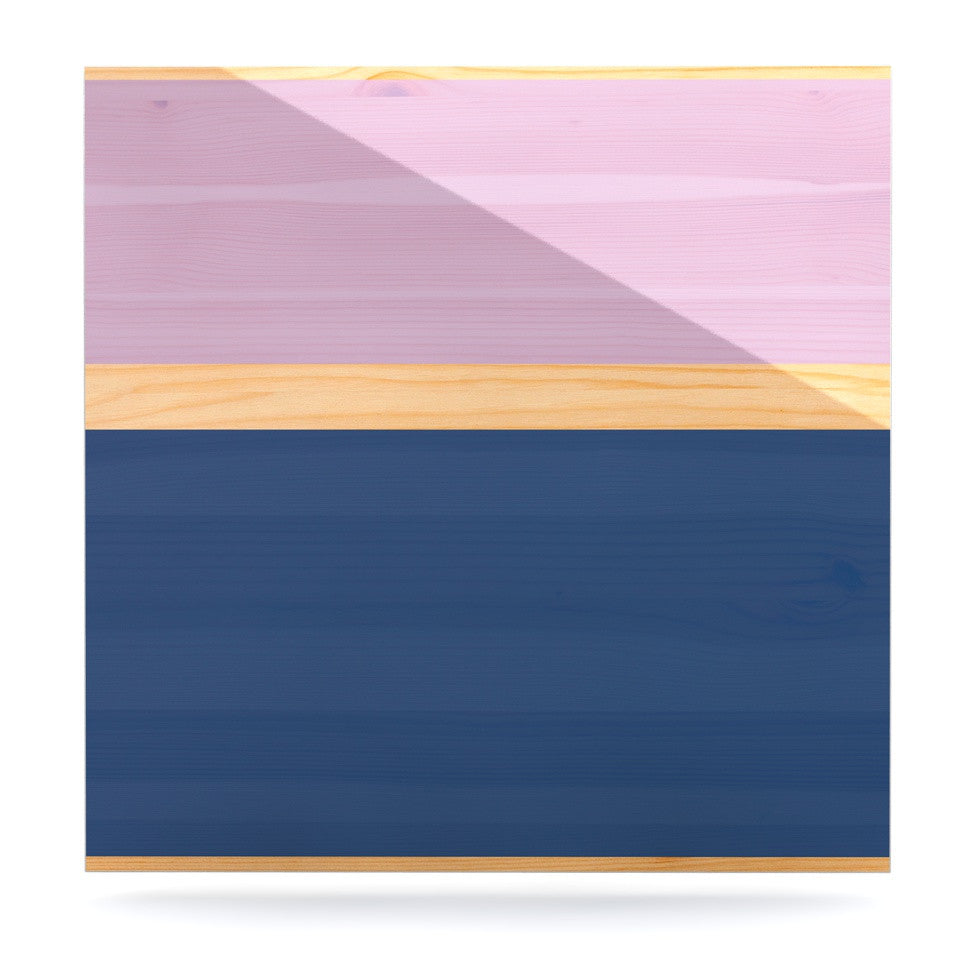 "KESS Original ""Spring Swatch - Blue Lavender"" Purple Wood Luxe Square Panel - KESS InHouse  - 1"