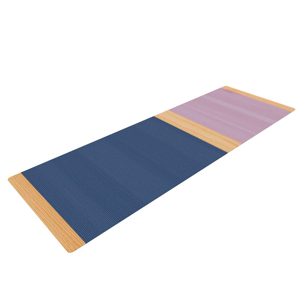 "KESS Original ""Spring Swatch - Blue Lavender"" Purple Wood Yoga Mat - KESS InHouse  - 1"