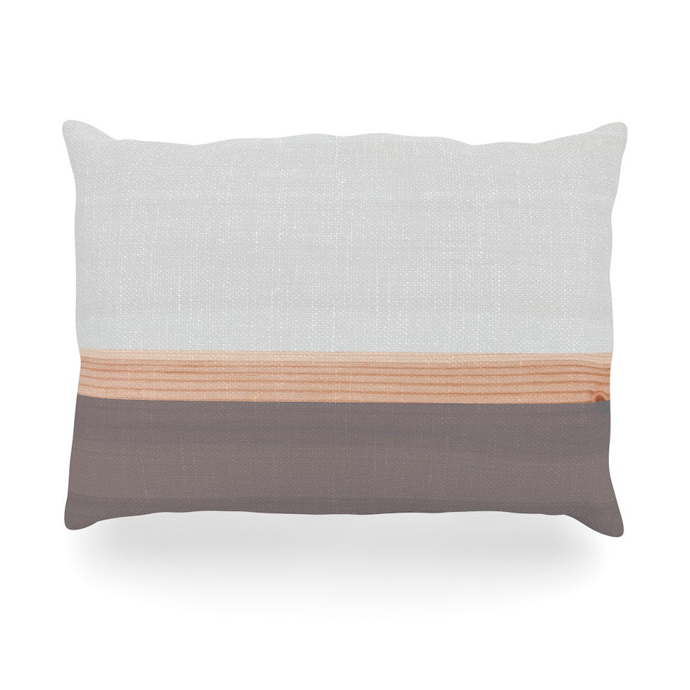 "KESS Original ""Spring Swatch - Grey"" Gray Wood Oblong Pillow - KESS InHouse"