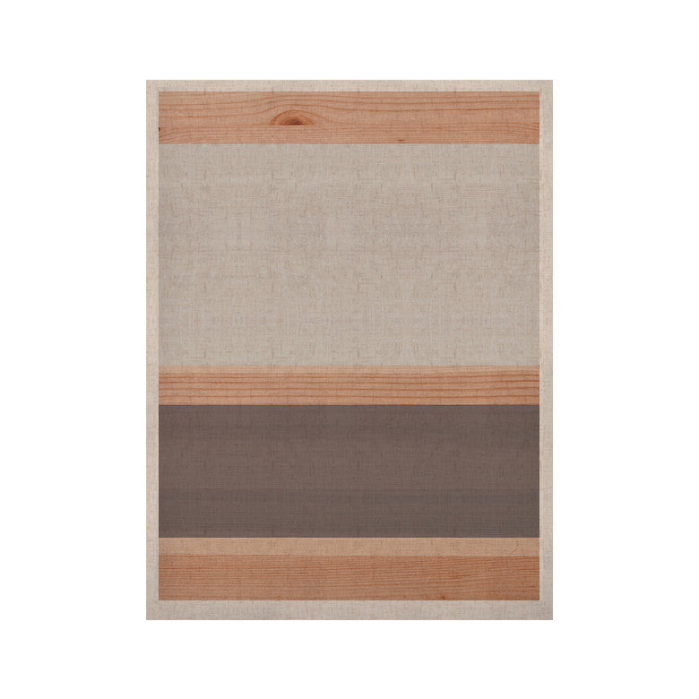 "KESS Original ""Spring Swatch - Grey"" Gray Wood KESS Naturals Canvas (Frame not Included) - KESS InHouse  - 1"