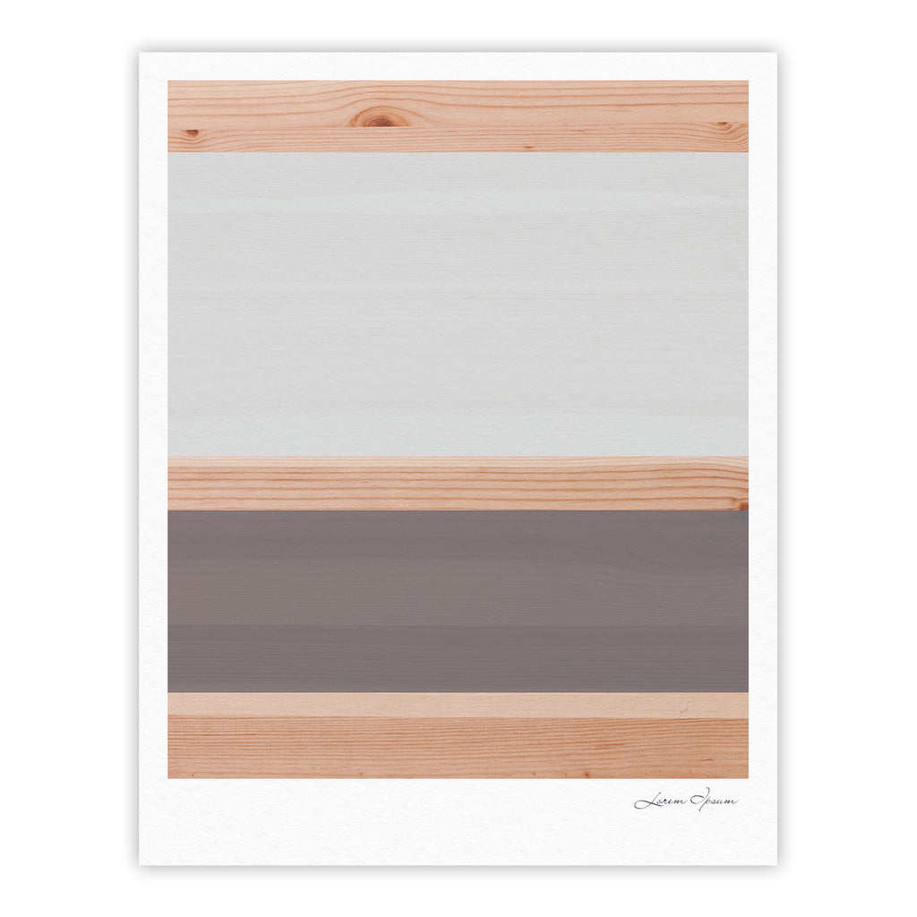 "KESS Original ""Spring Swatch - Grey"" Gray Wood Fine Art Gallery Print - KESS InHouse"