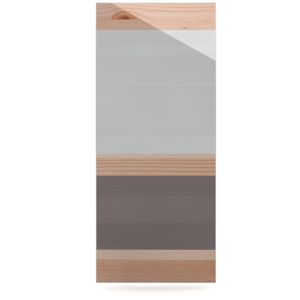 "KESS Original ""Spring Swatch - Grey"" Gray Wood Luxe Rectangle Panel - KESS InHouse  - 1"