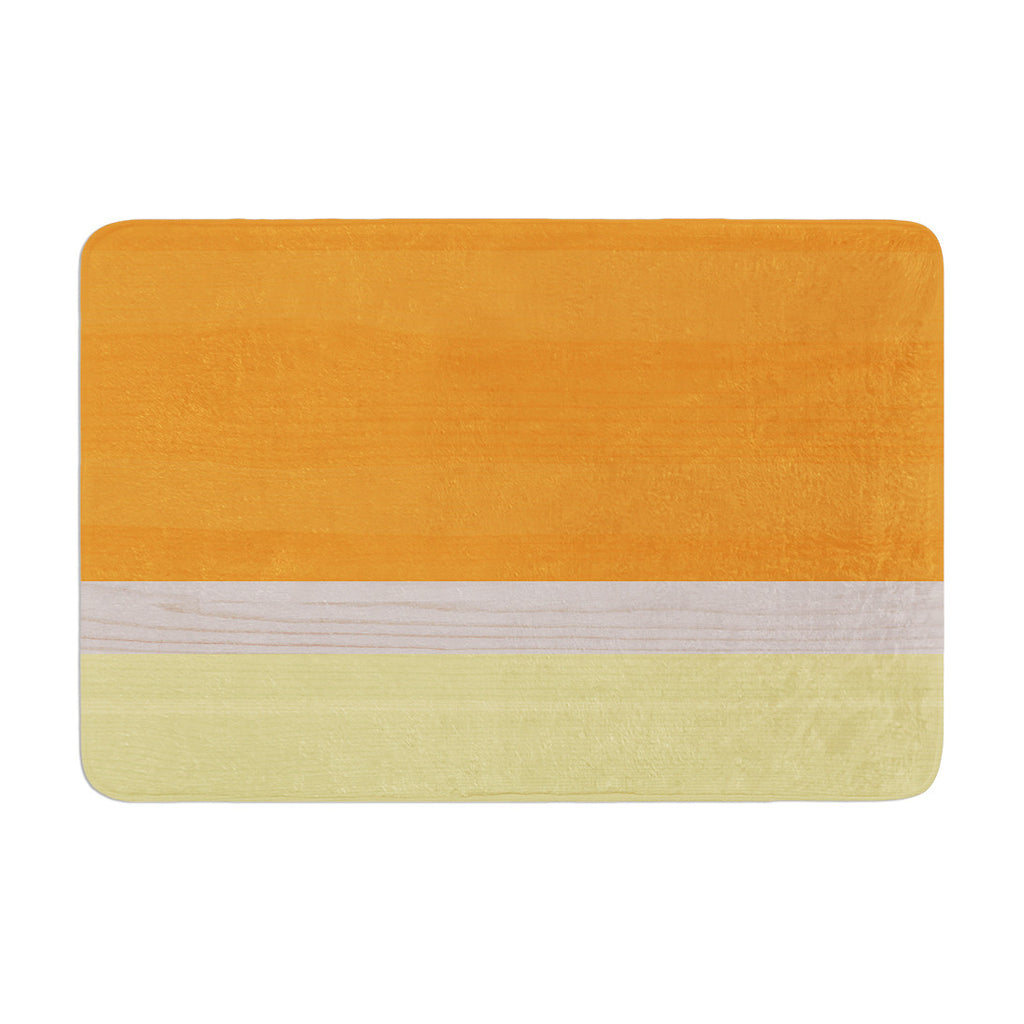"KESS Original ""Spring Swatch - Tangerine Custard"" Orange Yellow Memory Foam Bath Mat - KESS InHouse"