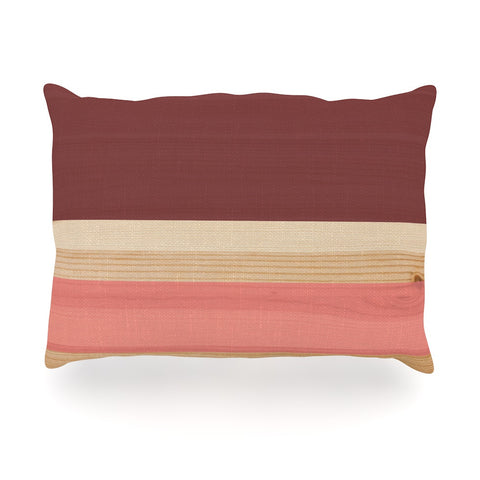 "KESS Original ""Spring Swatch - Marsala Strawberry"" Red Pink Oblong Pillow - KESS InHouse"