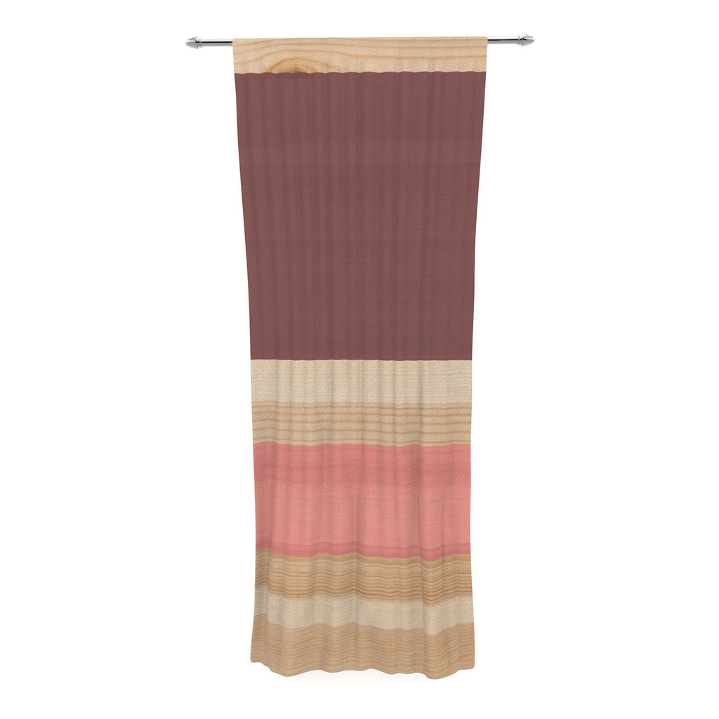"KESS Original ""Spring Swatch - Marsala Strawberry"" Red Pink Decorative Sheer Curtain - KESS InHouse"