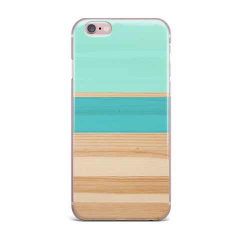 "KESS Original ""Spring Swatch - Blue Green"" Teal Wood iPhone Case - Outlet Item - KESS InHouse"