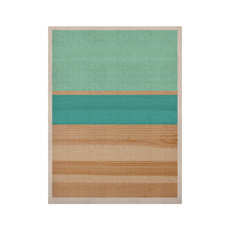"KESS Original ""Spring Swatch - Blue Green"" Teal Wood KESS Naturals Canvas (Frame not Included) - KESS InHouse  - 1"