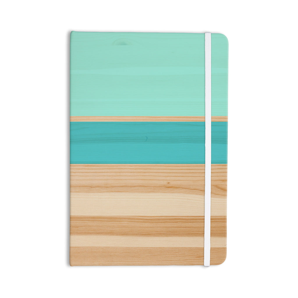 "KESS Original ""Spring Swatch - Blue Green"" Teal Wood Everything Notebook - KESS InHouse  - 1"