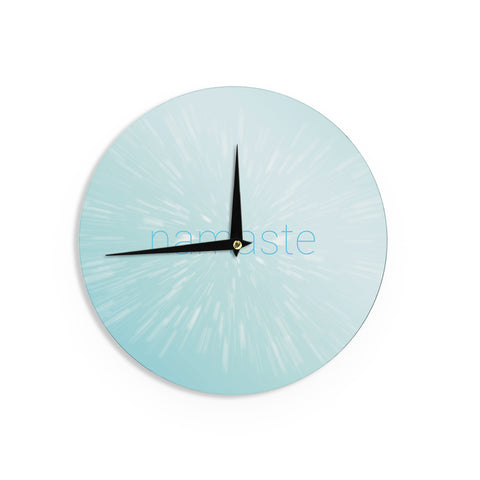 "KESS Original ""Namaste"" Blue Wall Clock - Outlet Item"