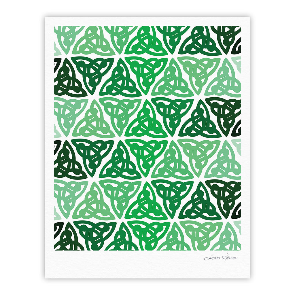 "KESS Original ""Celtic Knot Green"" Forest Mint Fine Art Gallery Print - KESS InHouse"