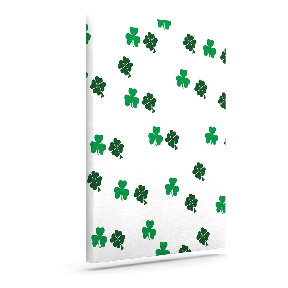 "KESS Original ""Shamrockin"" St. Patrick Canvas Art - KESS InHouse  - 1"