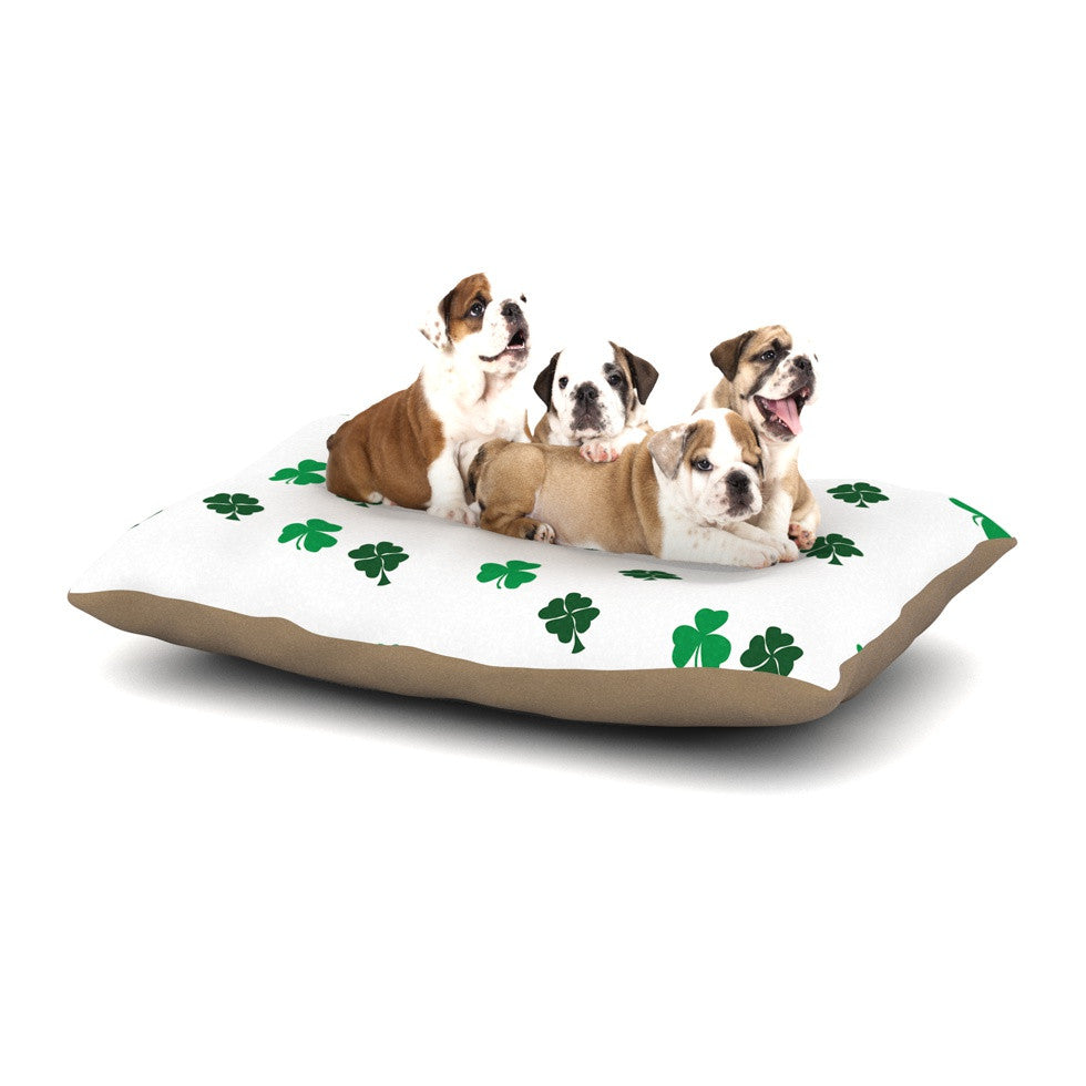 "KESS Original ""Shamrockin"" St. Patrick Dog Bed - KESS InHouse  - 1"