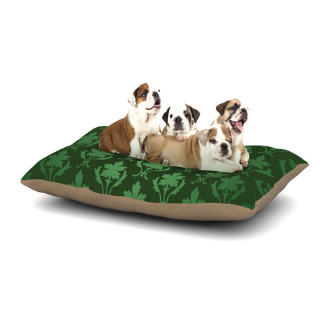 "KESS Original ""Emerald Damask"" Green Pattern Dog Bed - KESS InHouse  - 1"