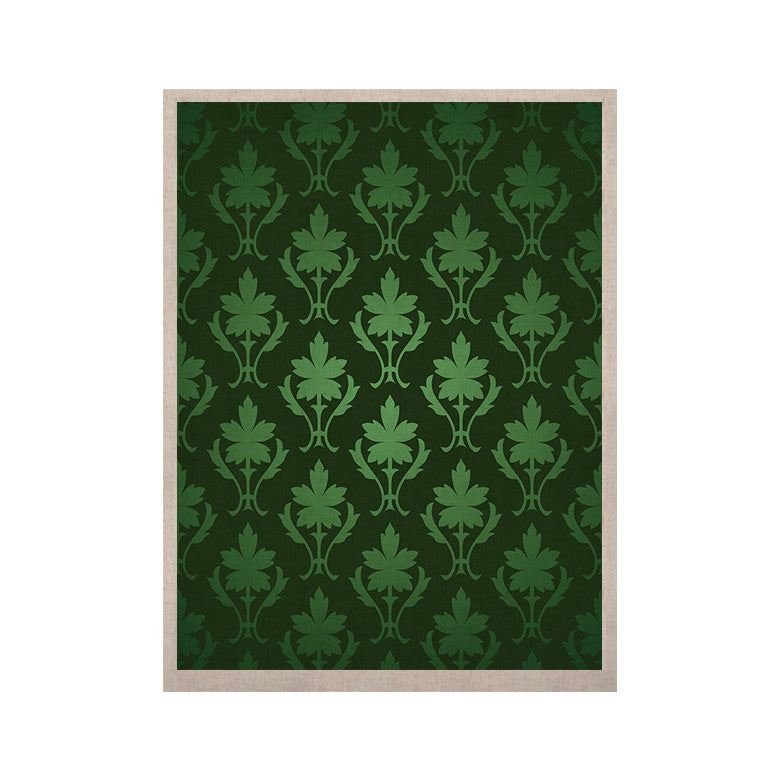 "KESS Original ""Emerald Damask"" Green Pattern KESS Naturals Canvas (Frame not Included) - KESS InHouse  - 1"