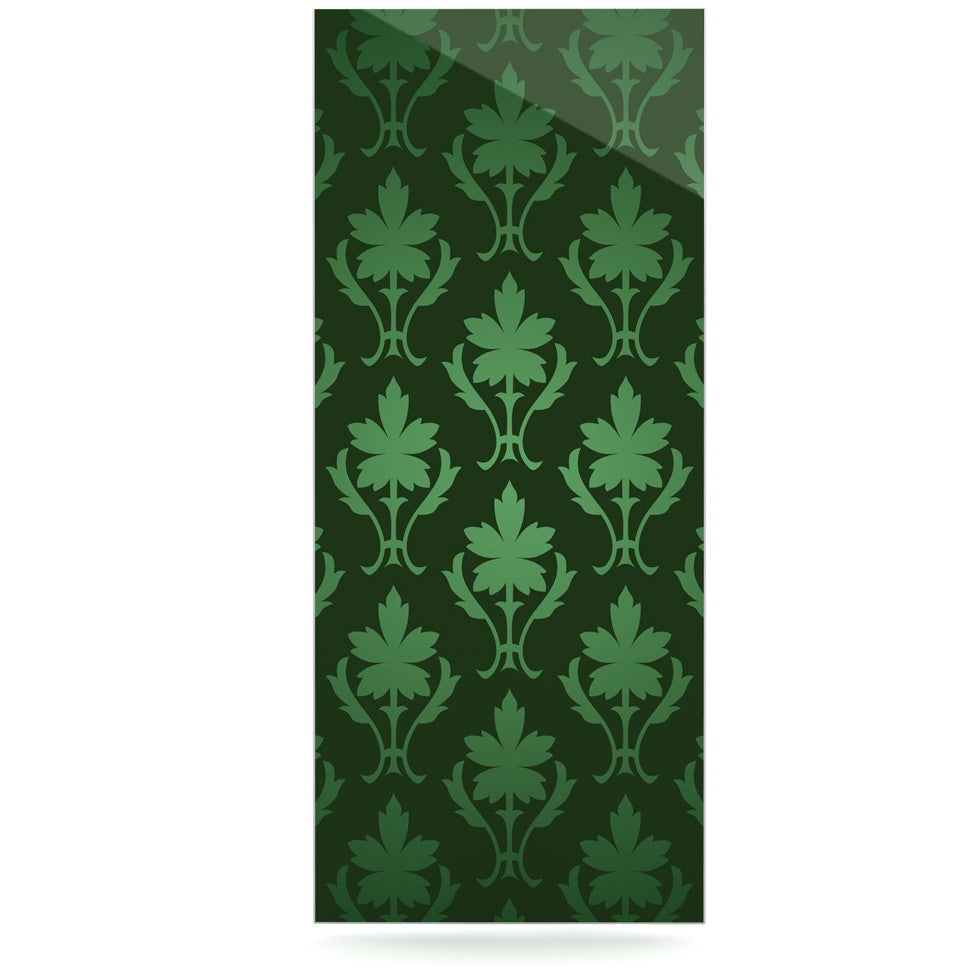 "KESS Original ""Emerald Damask"" Green Pattern Luxe Rectangle Panel - KESS InHouse  - 1"