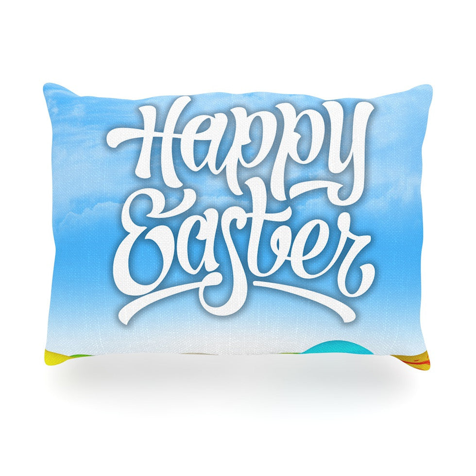 "KESS Original ""Happy Easter II"" Springtime Oblong Pillow - KESS InHouse"