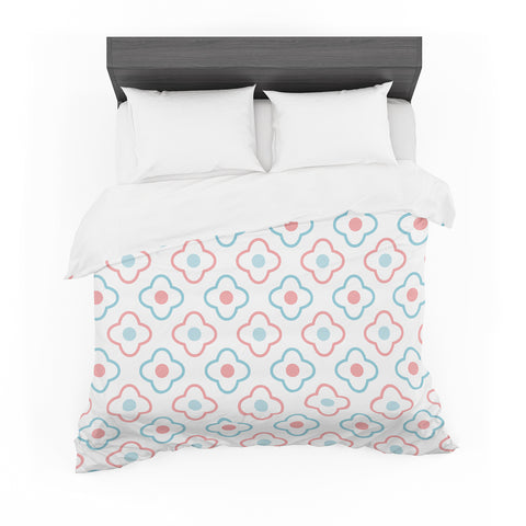 "KESS Original ""Baby Moroccan"" Blue Pink Featherweight Duvet Cover - Outlet Item"