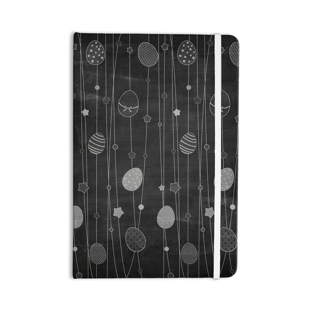 "KESS Original ""Chalk Eggs Black"" Gray Eggs Everything Notebook - KESS InHouse  - 1"