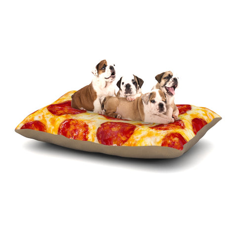 "KESS Original ""Pizza My Heart"" Pepperoni Cheese Dog Bed - Outlet Item"