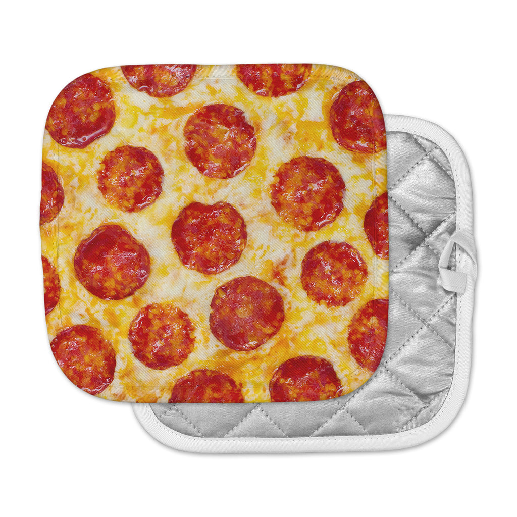 "KESS Original ""Pizza My Heart"" Pepperoni Cheese Pot Holder"
