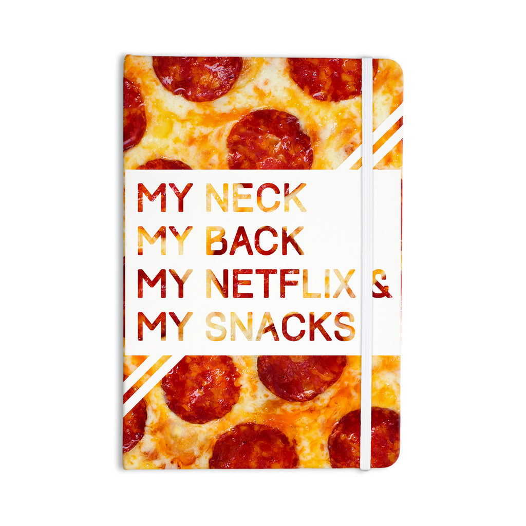 "KESS Original ""Priorities"" Typography Food Everything Notebook - KESS InHouse  - 1"