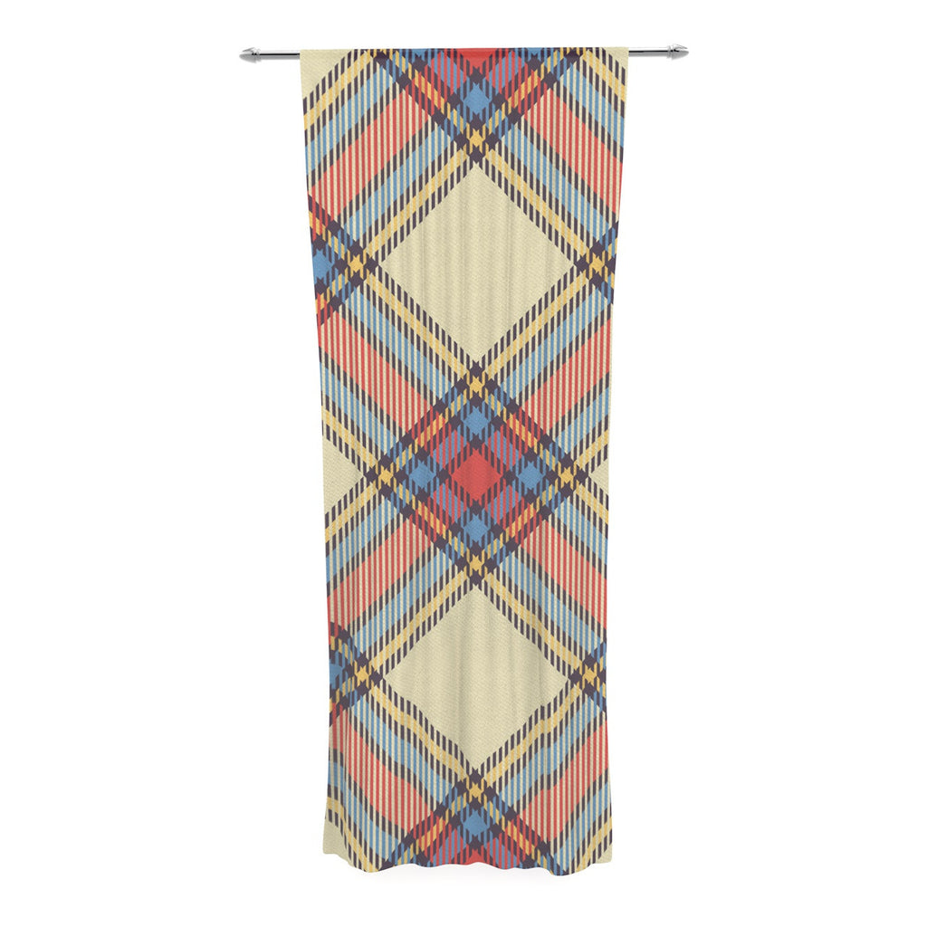 "KESS Original ""Sunday Brunch Plaid"" Tartan Decorative Sheer Curtain - KESS InHouse  - 1"