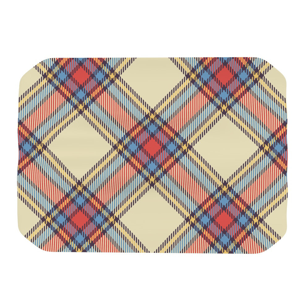 "KESS Original ""Sunday Brunch Plaid"" Tartan Place Mat - KESS InHouse"