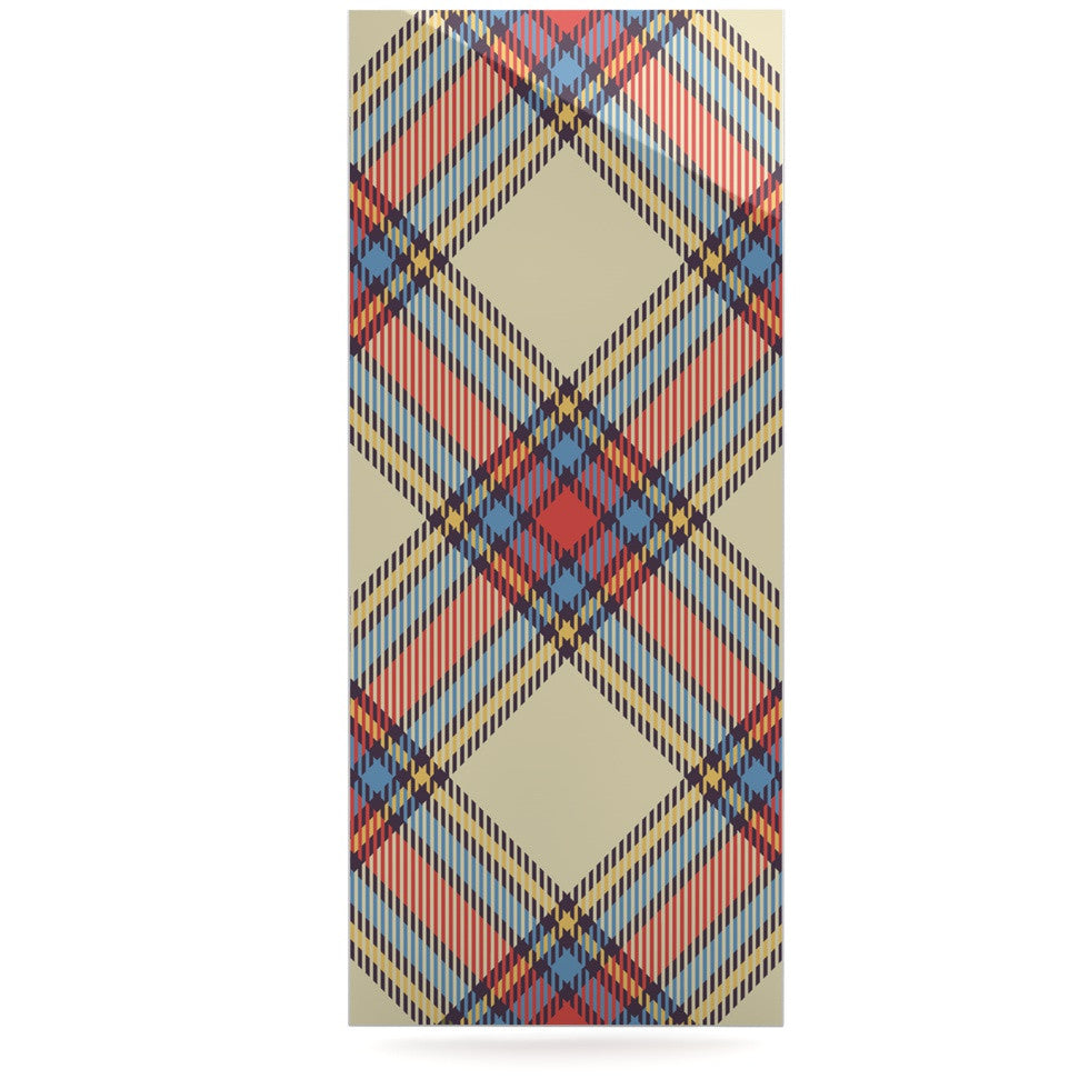 "KESS Original ""Sunday Brunch Plaid"" Tartan Luxe Rectangle Panel - KESS InHouse  - 1"