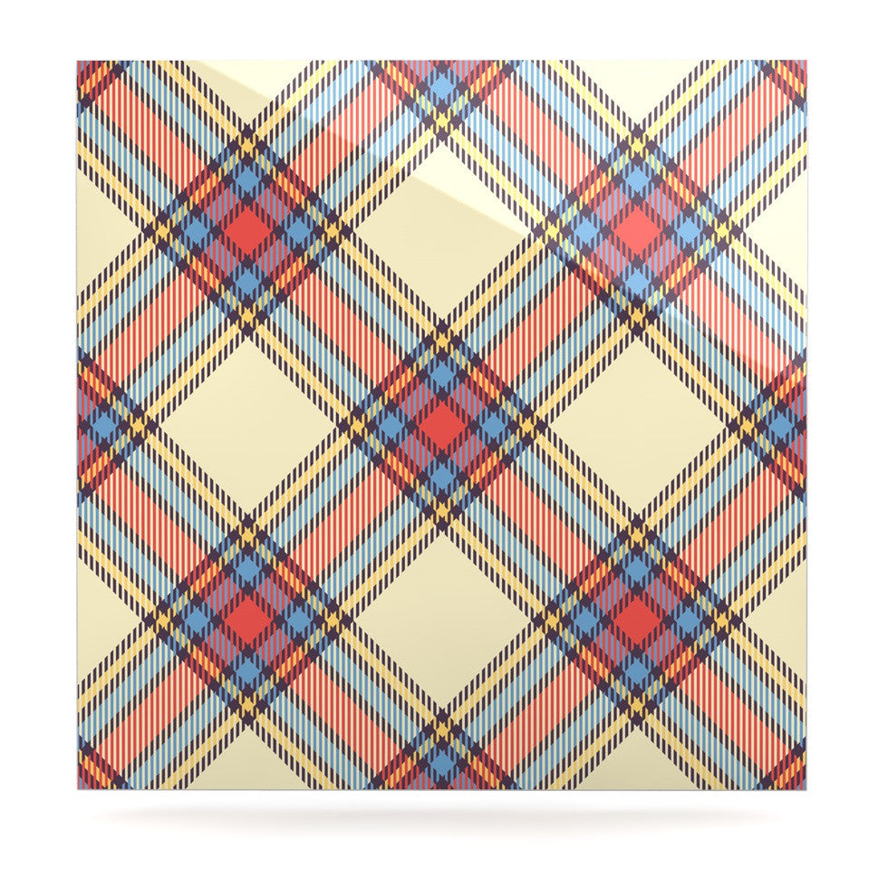 "KESS Original ""Sunday Brunch Plaid"" Tartan Luxe Square Panel - KESS InHouse  - 1"